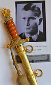 PRESENTATION NAVAL DAGGER BY WKC BELONGING TO U.BOAT KAPITAN HELMUT KURRER.