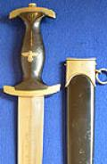 SS DAGGER 1933 MODEL, RARE VARIATION WITH EXCLAMATION MARK TO THE END OF THE SS MOTTO.