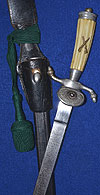 THIRD REICH RIFLE ASSOCIATION DAGGER 1939 MODEL COMPLETE WITH FROG & KNOT.