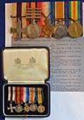 WW1 BRITISH MILITARY CROSS GROUP OF FIVE MEDALS.