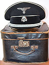 ALLGERMINE SS OFFICERS PEAKED CAP WITH ORIGINAL ISSUE BOX AND PROVENANCE.