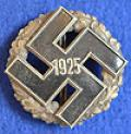 RARE NSDAP 1925 PATTERN GAU BADGE.