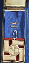 VERY RARE CASED SS 12 YEAR LONG SERVICE MEDAL.