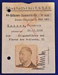 SS GENERALS AUSWEIS ID CARD WITH UNIFORM PHOTOGRAH.