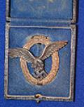 CASED LUFTWAFE PILOTS BADGE BY BSW.