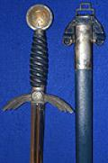 LUFTWAFFE OFFICERS SWORD, EARLY EXAMPLE BY WAYERSBERG IN NEAR MINT CONDITION.