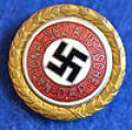 GOLD PARTY BADGE OF THE NSDAP.