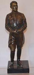 ADOLF HITLER BRONZE FIGURE.