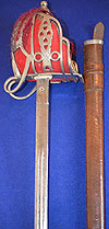 WW1 SCOTTISH ARMY OFFICERS BASCKET HILT SWORD.