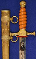 RARE GERMAN NAVAL MESS DRESS OFFICERS DAGGER.