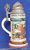 IMPERIAL GERMAN MILITARY REGIMENTAL STEIN.