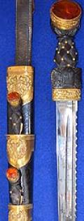 SCOTTISH OFFICERS MILITARY DIRK, BLACK WATCH REGIMENT OF WW1 PERIOD.