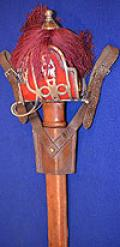 SCOTISH BASKET HILT BROAD SWORD OF THE SEAFORTH HIGHLANDERS BY KIRKWOOD OF EDINBURGH.