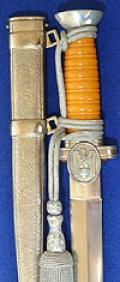 RED CROSS OFFICERS DAGGER COMPLETE WITH KNOT.