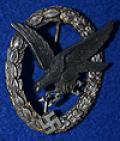LUFTWAFFE RADIO OPERATORS AND AIR GUNNERS WAR BADGE.