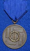 SS EIGHT YEAR LONG SERVICE MEDAL.