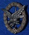 LUFTWAFFE RADIO OPERATOR AND AIR GUNNERS BADGE.