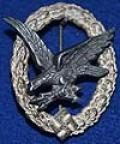 LUFTWAFFE RADIO AND AIR GUNNERS WAR BADGE.