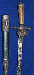 MINIATURE THIRD REICH DELUXE QUALITY HUNTING DAGGER BY ALCOSO.