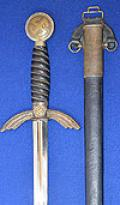 LUFTWAFFE OFFICERS SWORD BY PAUL WAYERSBERG, EARLY HIGH QUALITY EXAMPLE.