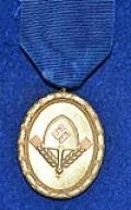 RAD 25 YEAR LONG SERVICE MEDAL IN GOLD.