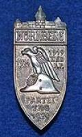 NUREMBERG 1929 GAU BADGE.