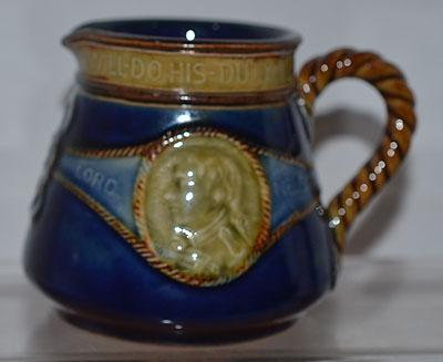 ADMIRAL LORD NELSON COMMEMORATIVE JUG.